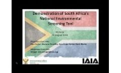 Demonstration of South Africa`s National Environmental Screening Tool - Video
