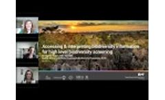 Accessing and Interpreting Biodiversity Information for High-Level Biodiversity Screening - Video