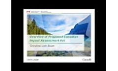 Overview of Proposed Canadian Impact Assessment Act - Video