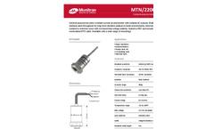 Monitran - MTN/2200C Series - General Purpose Industrial Accelerometer Datasheet