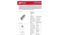 Monitran - MTN/2285-2P Series - General Purpose, Top-Entry Velocity Transducer Datasheet
