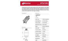 Monitran - MTN/2285-4P Series - General Purpose, Top-Entry Velocity Transducer Datasheet