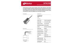 Monitran - MTN/2285C Series - General Purpose, Top-Entry Velocity Transducer Datasheet
