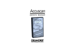 Delmhorst Accuscan User Manual
