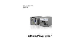 Clayton - Lithium Power Supply Manual