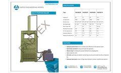 Fabtexbaler - Model FAB/CB - Cotton Baling Press | Waste Cotton Baler