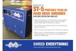 ST-5 Portable Plug-In Hard Drive Shredder - Brochure