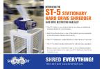 Shred-Tech - ST-5 Stationary Hard Drive Shredder - Brochure