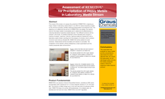 Assessment of REMOTOX® for Precipitation of Heavy Metals in Laboratory Waste Stream