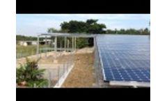 Japan 100KW solar system Video