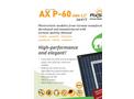 AxSun Premium - Model AX M-60 - Black Monocrystalline Solar Panel - Brochure