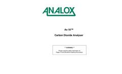 Analox - Model A50 - Carbon Dioxide Gas Detector - User Manual