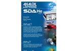 Analox - Model SDA - Helium - Saturation Control Gas Monitoring - Brochure