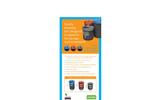 Leafield - Novelty Smiley Face Recycling Bins - Brochure