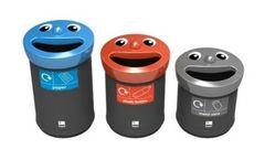 Leafield - Novelty Smiley Face Recycling Bins