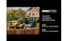 OHIO STEEL Lawn Sweeper Assembly Instructions 4222V2 5026V2 - Video