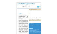 Acrylonitrile in Air Application Note