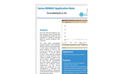 Formaldehyde in Air Application Note