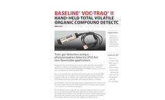 Baseline VOC-TRAQ - Total Volatile Organic Compound Detector - Brochure