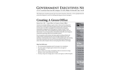 Green Gov. 101: Learn How to Create a Green Office Brochure (PDF 263 KB)