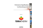 Statement of Qualifications for Designing, Building, and Operating In Situ Thermal Remediation Projects - Brochure