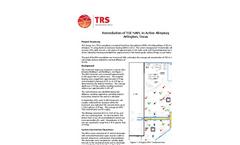 Remediation of TCE NAPL in Active Alleyway Arlington, Texa Brochure