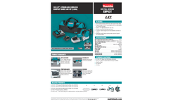 Makita LXT Lithium-Ion - Model XBP03Z - Cordless Compact Band Saw Tool - Datasheet