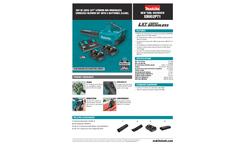 Makita LXT Lithium-Ion - Model XBU02PT1 - 18V X2 (36V) - Brushless Cordless Blower Kit with 4 Batteries (5.0Ah) - Datasheet