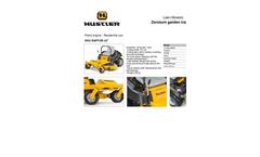Zeroturn Garden Tractors for Residential Use HU RAPTOR 42 Series- Brochure