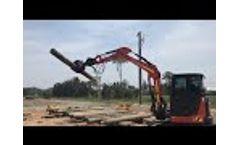 Five Finger Grab Grapple Intermercato TG22PROSR5 & rotator RMR6 on Excavator Video
