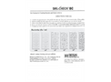 Sani-Check - Model BC - Test Kit - Dipslide for Detecting Bacteria and Coliforms - Manual