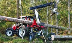 Hypro - Model 755 HB - Forestry Wheel Carried Tractor Processor