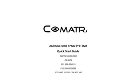 Comatra - Model TPMS - Agriculture Tire Pressure Monitor System - Manual