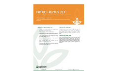 Agrichem - Model Nitro Humus 323 - Highly Concentrated Liquid Nitrogen and Humic Acid - Datasheet