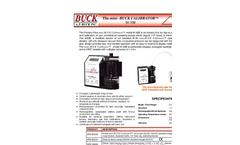 Mini-Buck - Model M-30B - Primary Flow Calibrator - Brochure