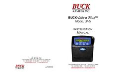 Buck Libra Plus - Model LP-5 - Personal Air Sampler - Instruction Manual