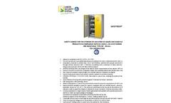 Model AB 1200/50 - Safety Storage Cabinet Brochure