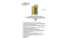 Model AA 600 - Safety Storage Cabinet Brochure