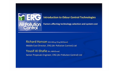 Odour Control Introduction - Factors Affecting Technology Selection and Cost Presentation