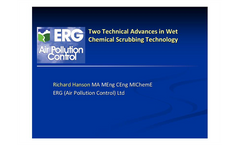 Two Technical Advances in Wet Chemical Scrubbing Technology - Presentation
