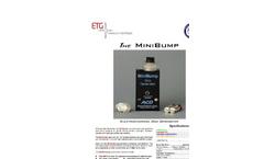 MiniBump Ultra-Small Calibration Gas Instrument - Brochure