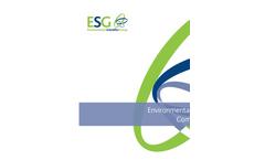ESG Environmental Safety Compliance Brochure