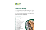 Specialist Testing Service Brochure