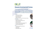 Contaminated Land and Contaminated Groundwater Assessments Service – Brochure
