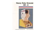 Foremost - Model HD-8 - Heavy Duty Granulators - Datasheet