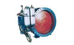 Model DK7K41H - Energy Saving Tank Type - Hydraulic Controlled Slow Close Check Butterfly Valve