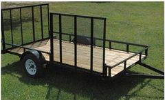 Currahee - Single Axle Landscape Trailer with Side Gate