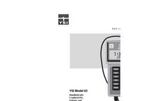 63 Handheld pH, Conductivity, Salinity and Temperature System Operations Manual