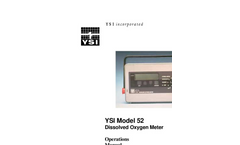 52 Dissolved Oxygen Meter Operations Manual