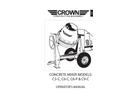 Concrete Mixers C3C, C6C, C6P, C9C Operators- Brochure
